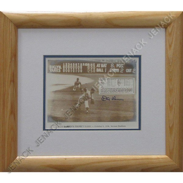 8: DON LARSEN'S PERFECT GAME, SIGNED PHOTOGRAPH