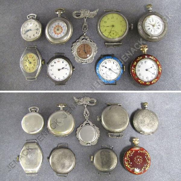 12: LOT (9) VINTAGE STERLING AND .800 SILVER ITEMS