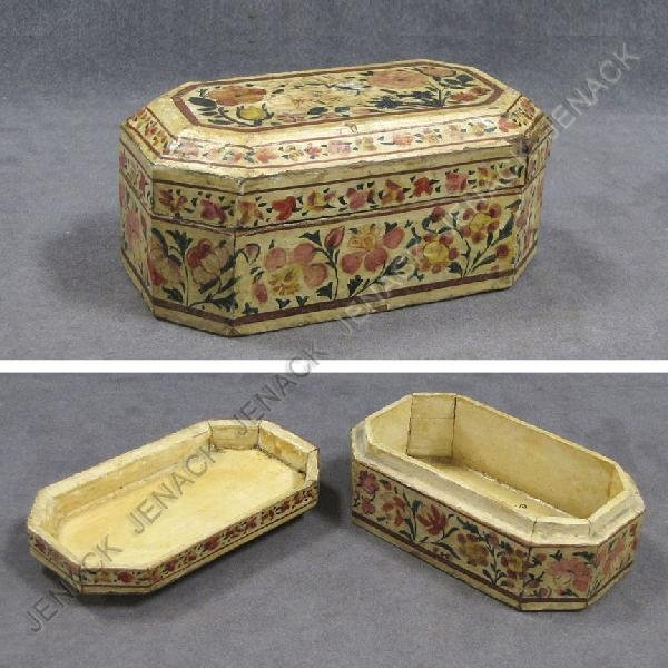 24: ANGLO INDIAN PAINTED JEWELRY BOX