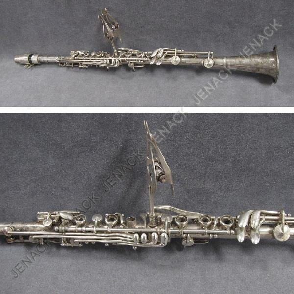24: VINTAGE REIDS US SILVER PLATE CLARINET WITH CASE