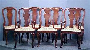 1325 SET 10QUEEN ANNE STYLE MAHOG CHAIRS