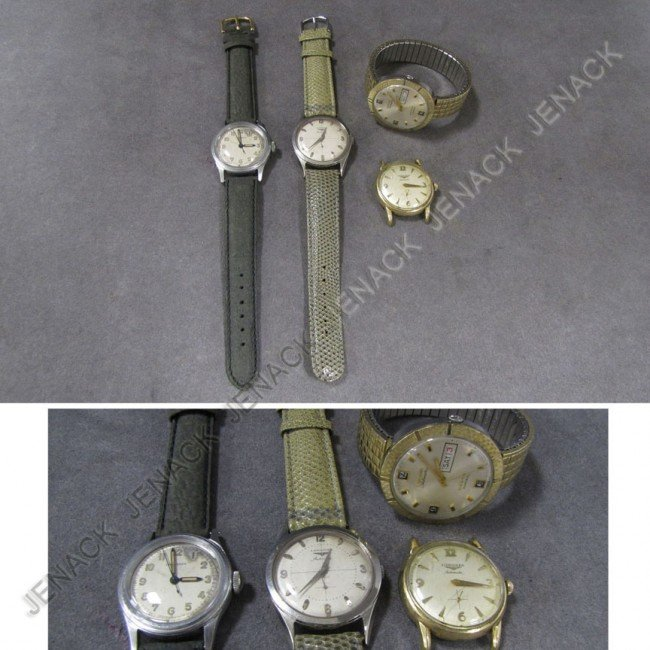 2: LOT (4) ASSORTED VINTAGE LONGINES WRISTWATCHES
