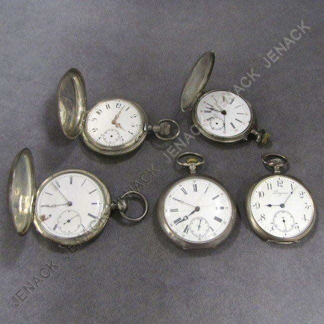 10: LOT (5) ASSORTED VINTAGE POCKET WATCHES