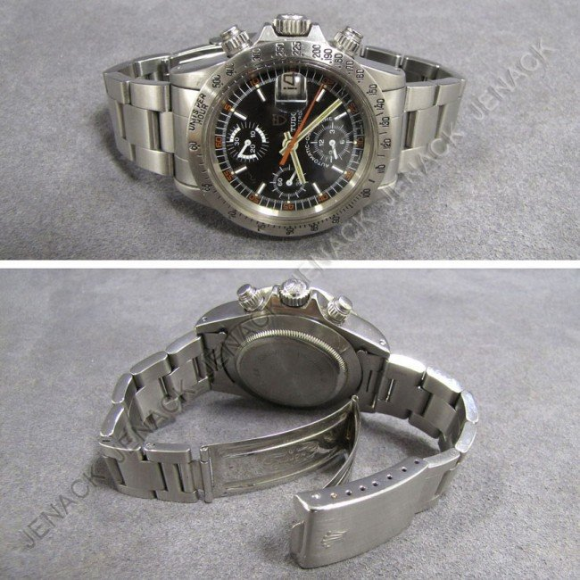 12: TUDOR STAINLESS OYSTER DATE WRISTWATCH