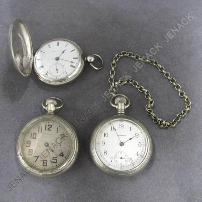 20: LOT (3) ASSORTED VINTAGE POCKET WATCHES