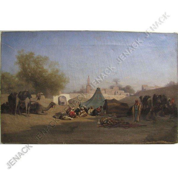 184: CHARLES-THEODORE FRERE (FRENCH 1814-1888) OIL