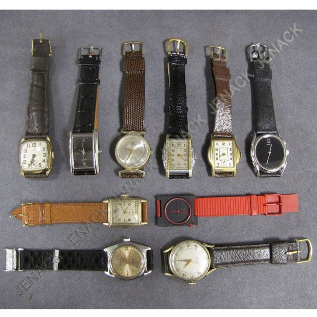 8: LOT (10) ASSORTED VINTAGE WRISTWATCHES