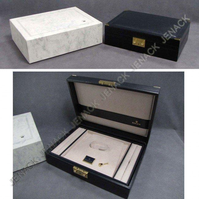 10: ROLEX LEATHER JEWELRY/WATCH BOX