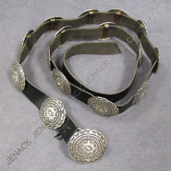 2: SOUTHWEST AMERICAN INDIAN LEATHER CONCHO BELT
