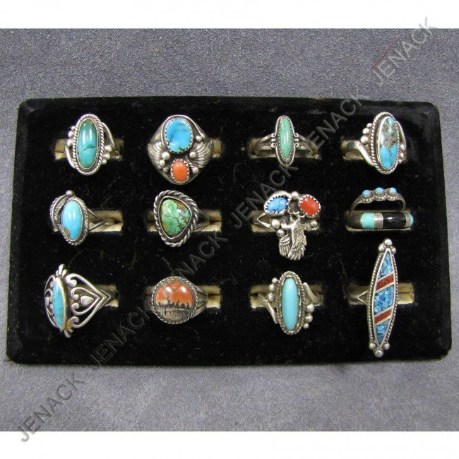 5: LOT (13) SOUTHWEST AMERICAN INDIAN RINGS