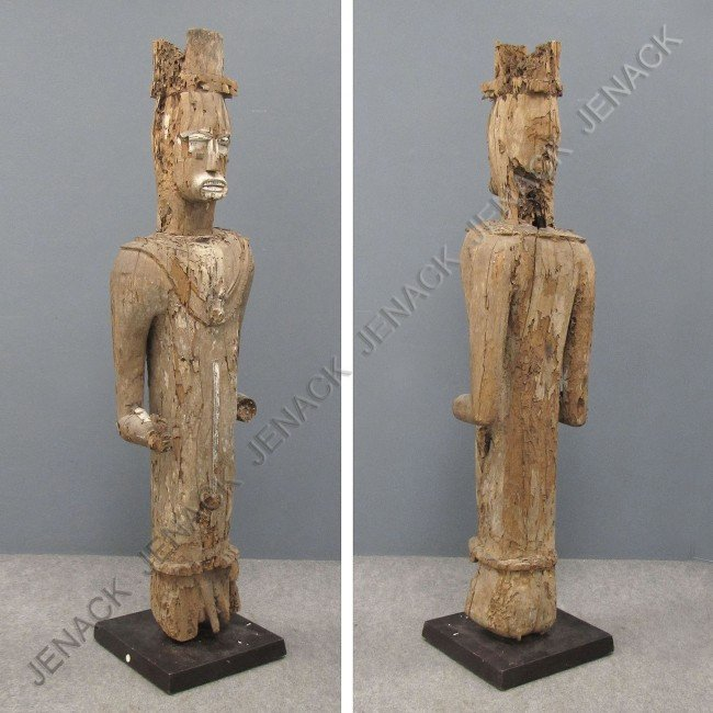 11: ANTIQUE IBO CARVED MALE ANCESTOR FIGURE