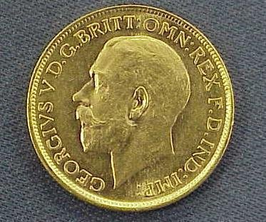 2: 1919S BRITISH COLONIAL GOLD SOVEREIGN