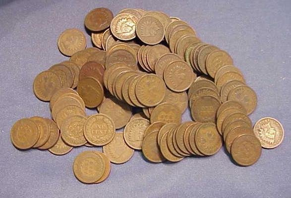3: LOT (120) ASSORTED INDIAN HEAD CENTS