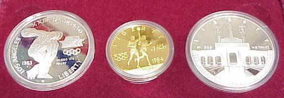 10: 1983/1984 OLYMPIC (3) COIN PROOF SET