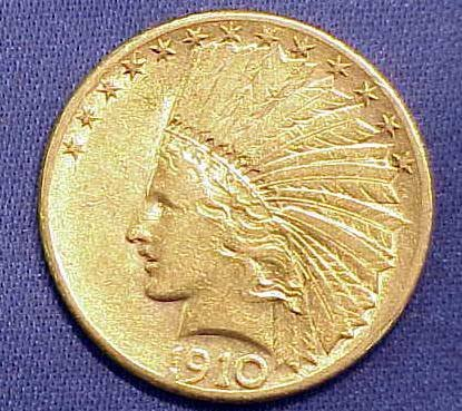 11: 1910S $10.00 INDIAN HEAD GOLD (EAGLE)