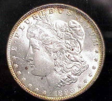 15: 1896 MORGAN SILVER DOLLAR MS65