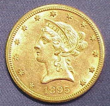 20: 1895O $10.00 CORONET HEAD GOLD (EAGLE)