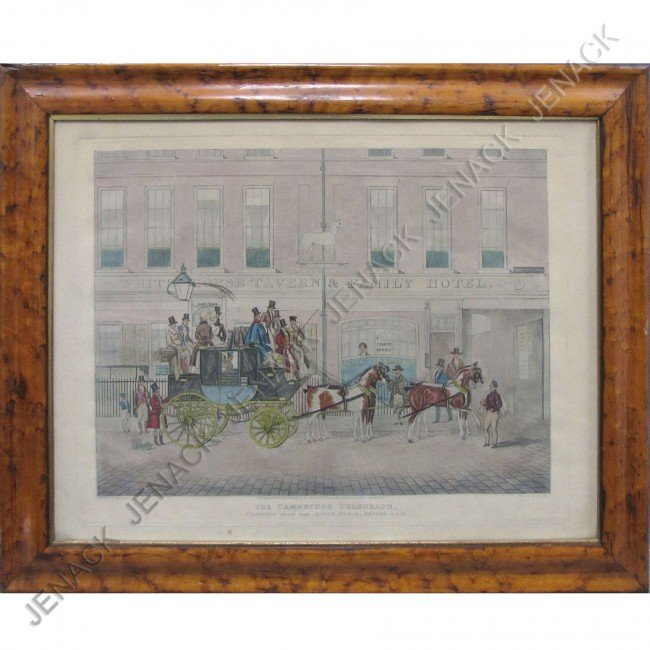 3: AFTER JAMES POLLARD, HAND COLORED ENGRAVING