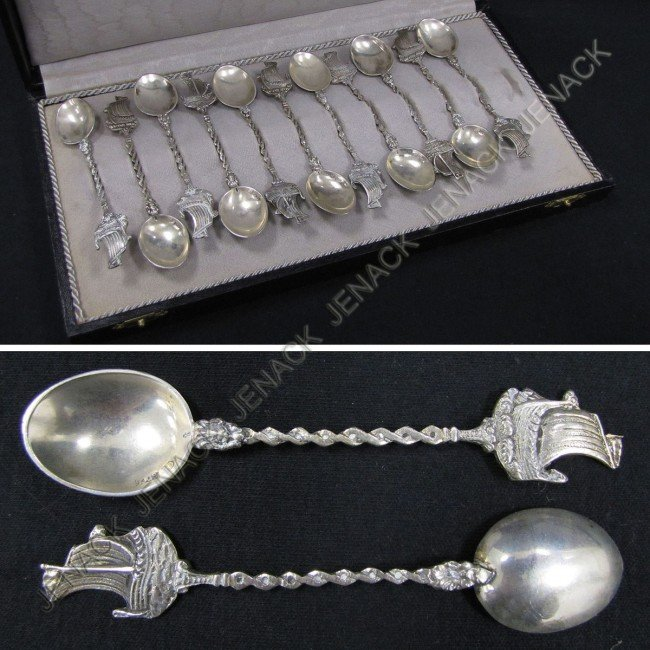 8: SET (11) NETHERLANDS 830 DEMITASSE SPOONS