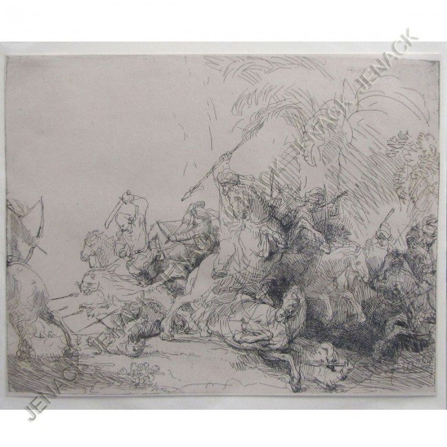 21: REMBRANDT VAN RIJN, THE LARGE LION HUNT