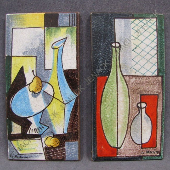 22: G. BARNI (ITALIAN 20TH CENTURY), LOT (2) TILES
