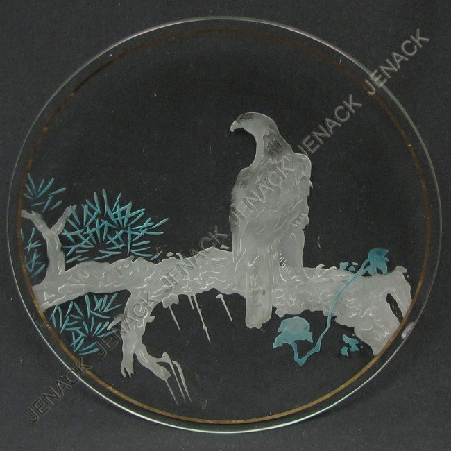 2: REVERSE INTAGLIO ART GLASS CHARGER