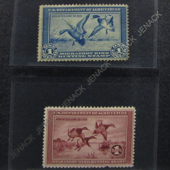 3: LOT (2) U.S. POSTAGE STAMP, FEDERAL DUCK