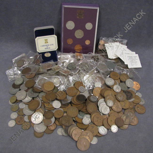4: LOT ASSORTED COINS, GREAT BRITAIN, 19/20TH CENTURY