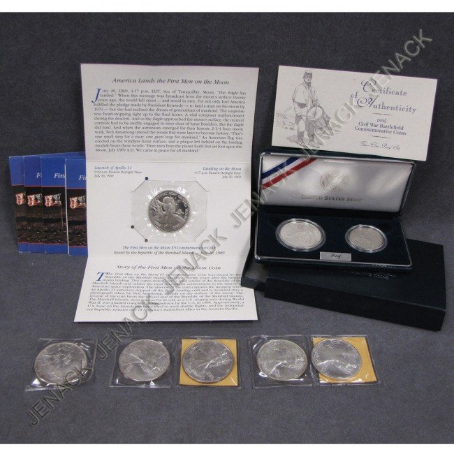 12: LOT ASSORTED PROOF AND SILVER COINS