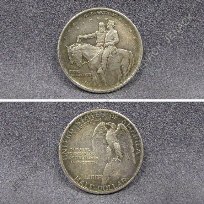 22: 1925 STONE MOUNTAIN MEMORIAL SILVER HALF DOLLAR