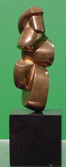 1010: ABSTRACT BRONZE SCULPTURE, DOROTHY ABBOTT