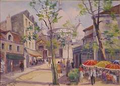 1168: OIL ON CANVAS, SIGNED CHARLES BLONDIN
