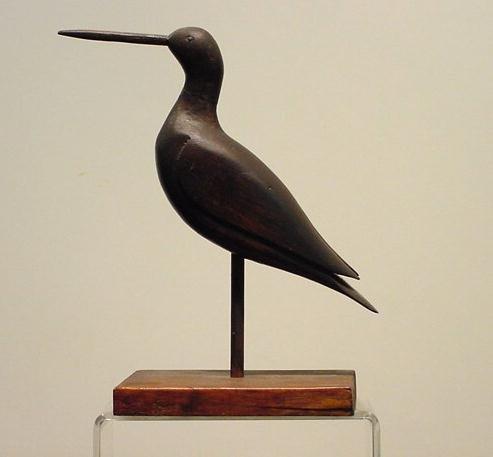 6: CARVED SNIPE SHORE BIRD, 19/20THC
