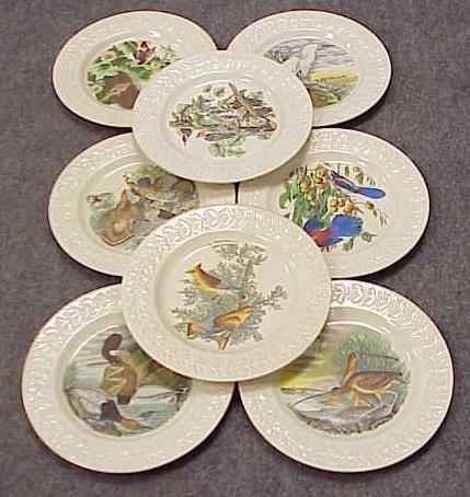 9: SET (8) ADAMS' AUDUBON BIRD PLATES