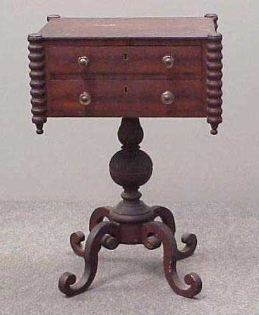 15: FEDERAL MAHOGANY WORKSTAND, 19THC
