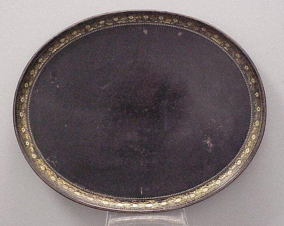 18: VICTORIAN STENCILED TOLE TRAY, 19THC
