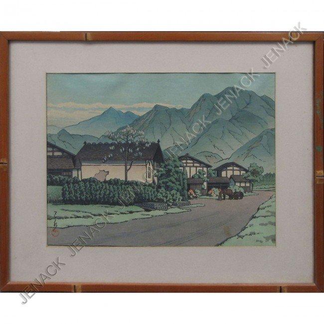 16: HASUI KAWASE (JAPANESE 1883-1957), WOODBLOCK PRINT