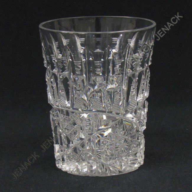 143: SET (8) LIBBEY CUT GLASS TUMBLERS, SIGNED