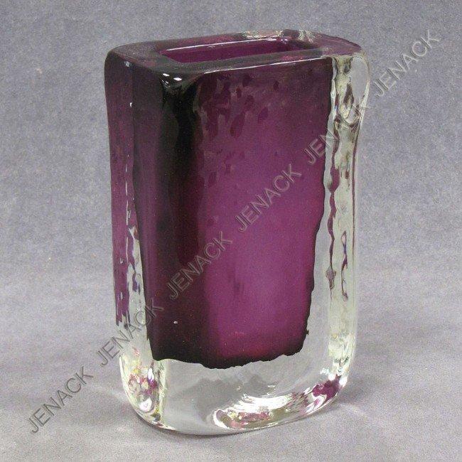 10: SCANDINAVIAN BLOWN ART GLASS VASE, SIGNED