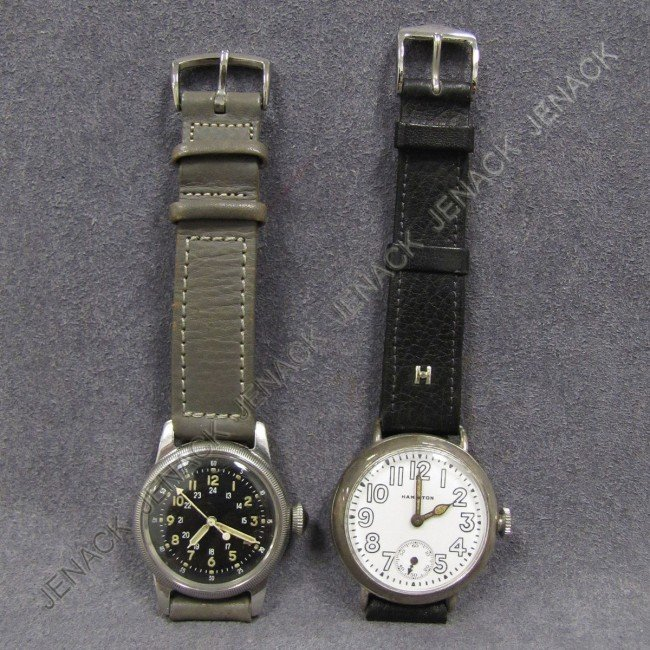16: LOT (2) VINTAGE MILITARY WRISTWATCHES