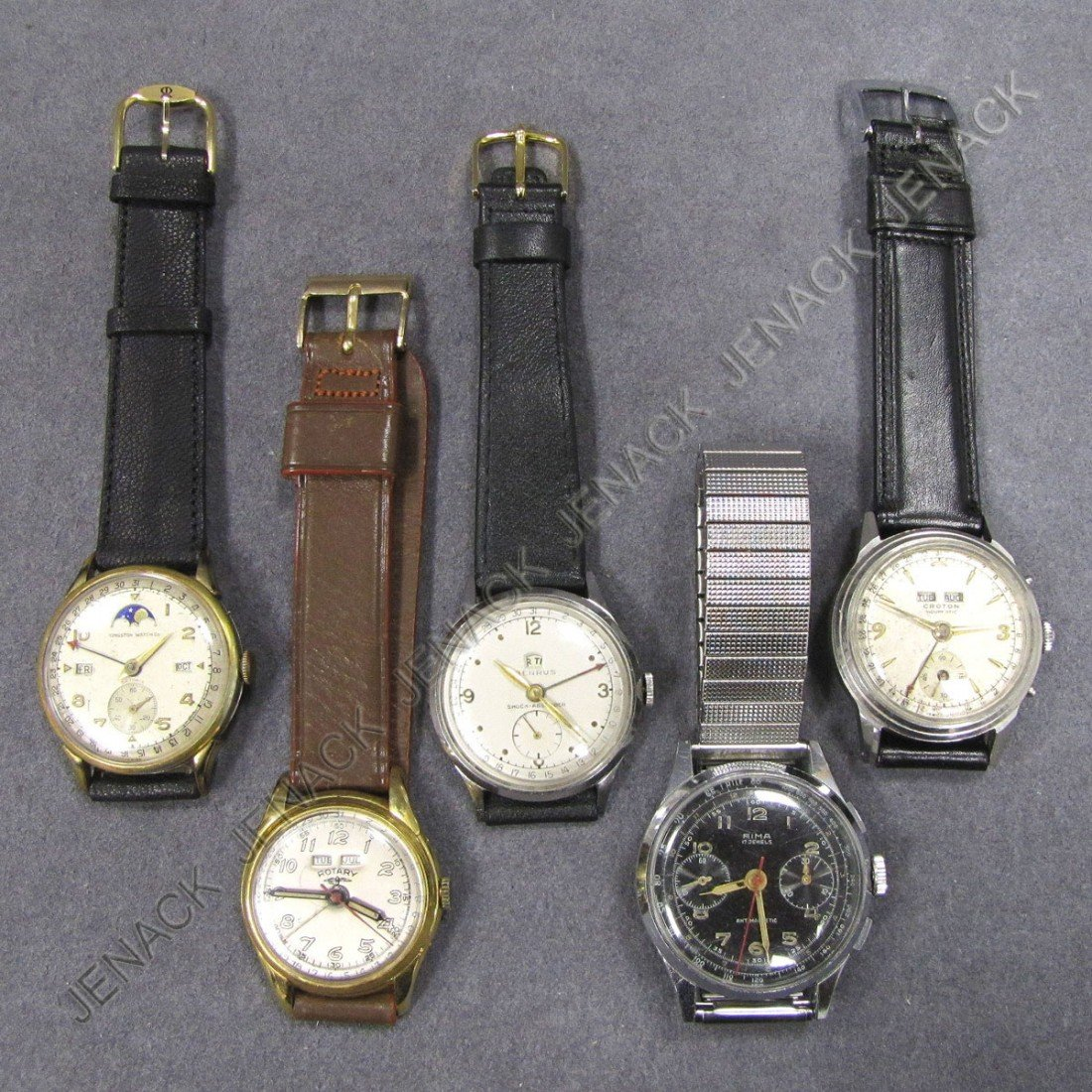 4: LOT (5) VINTAGE STEEL & GOLD FILLED WRISTWATCHES
