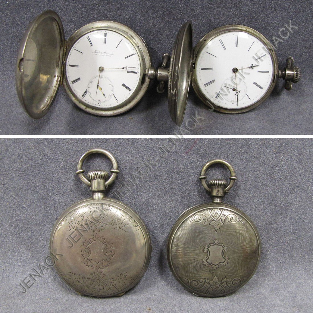13: LOT (2) SILVER (TESTS) KEY WIND POCKET WATCHES