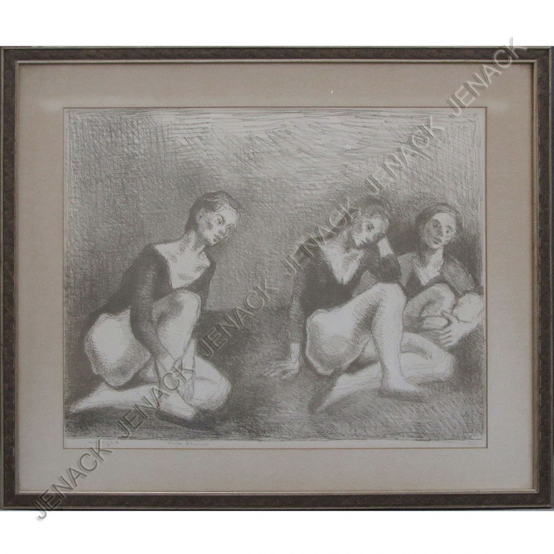 19: MOSES SOYER (AMERICAN NA 1899-1974), LITHOGRAPH