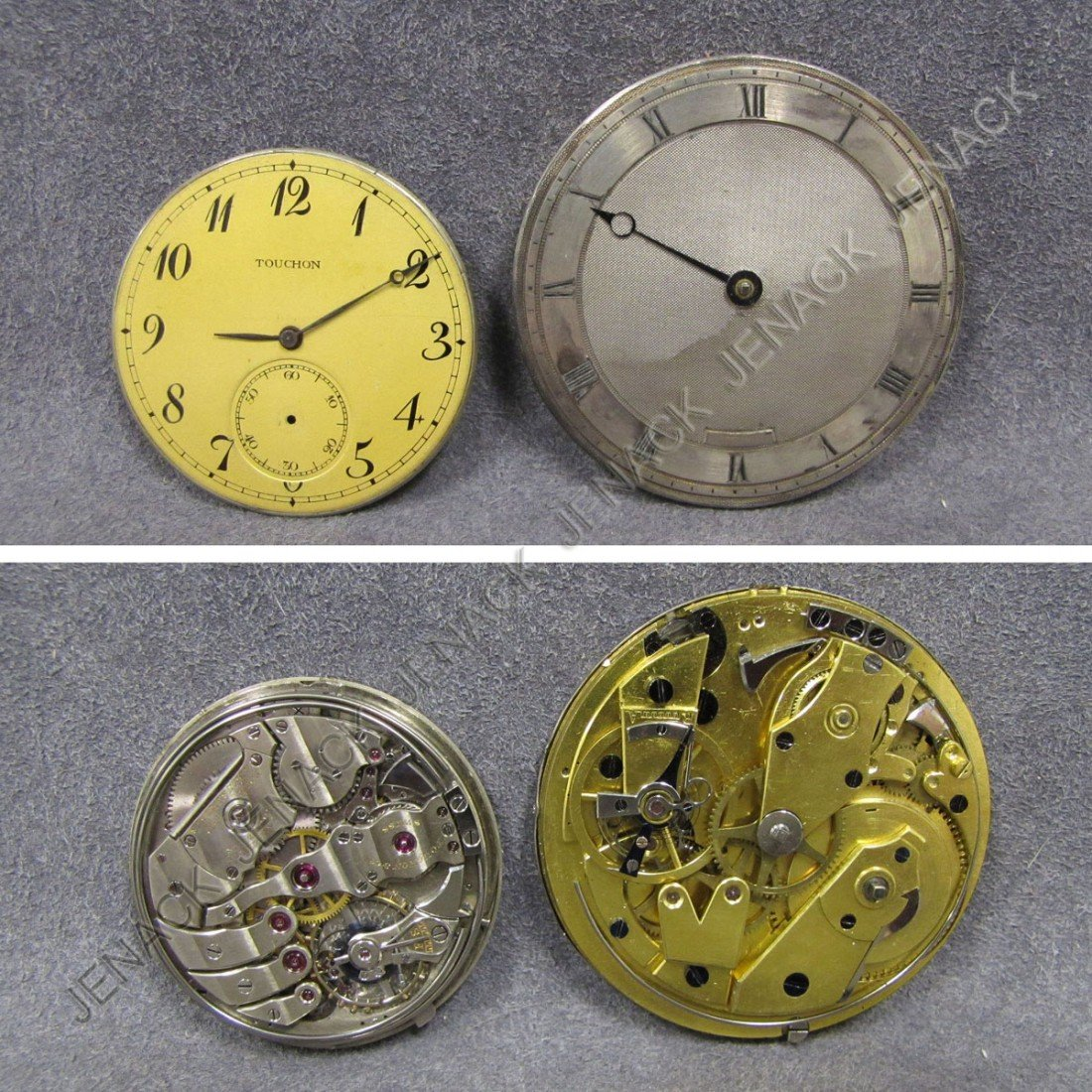 58: LOT (2) VINTAGE REPEATING POCKET WATCH MOVEMENTS