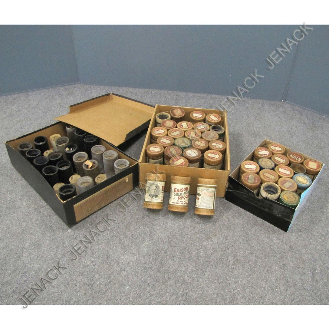 19: LOT (3) BOXES ASSORTED EDISON CYLINDER RECORDINGS