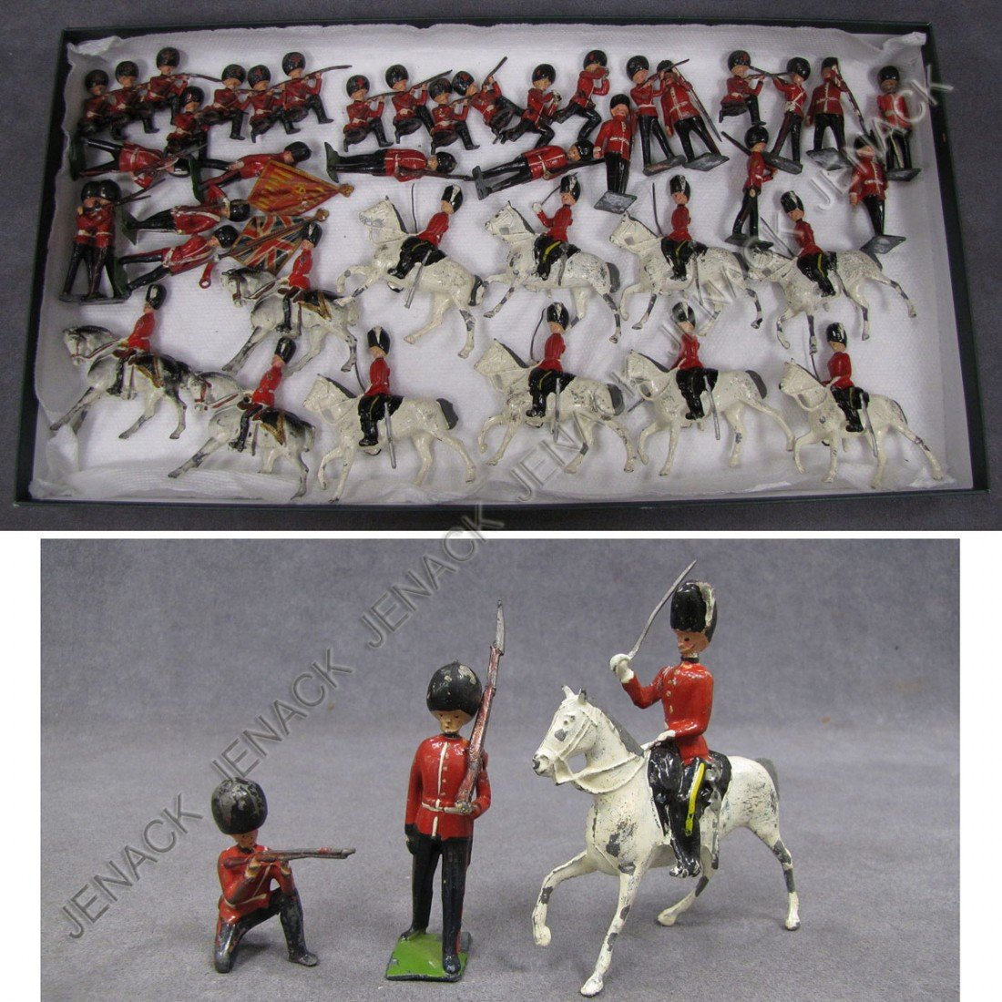 20: LOT (41) ASSORTED BRITAIN AND FRENCH LEAD SOLDIERS