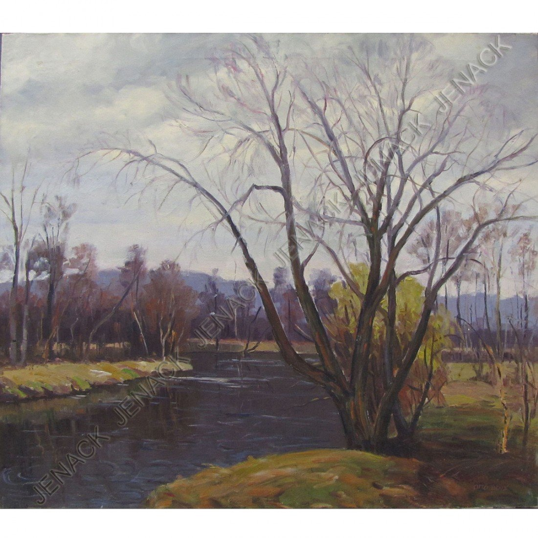 23: OTTO BENZ (NEW JERSEY 1882-), OIL ON CANVAS