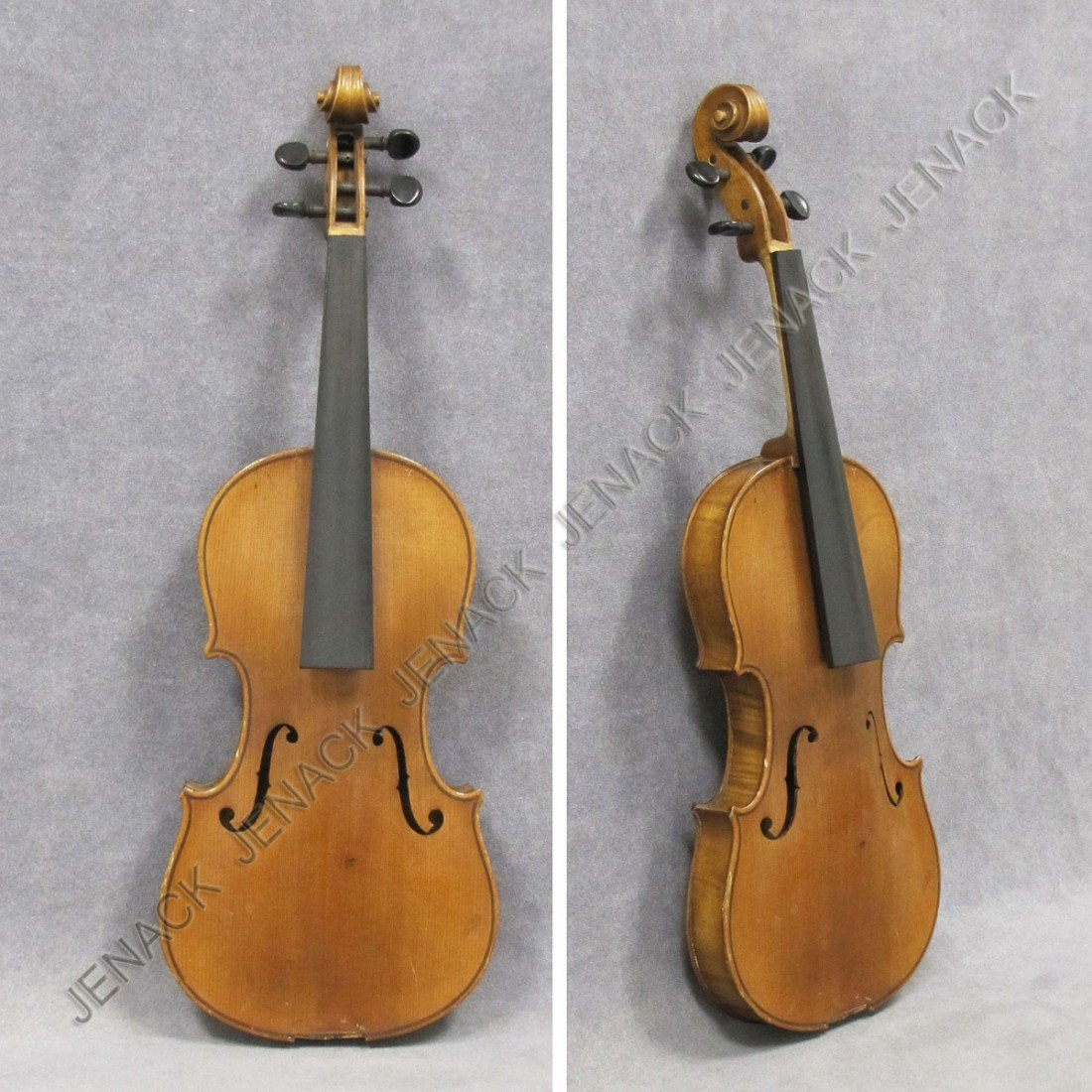19: VINTAGE YOUTH'S HALF-SIZE VIOLIN, UNSIGNED