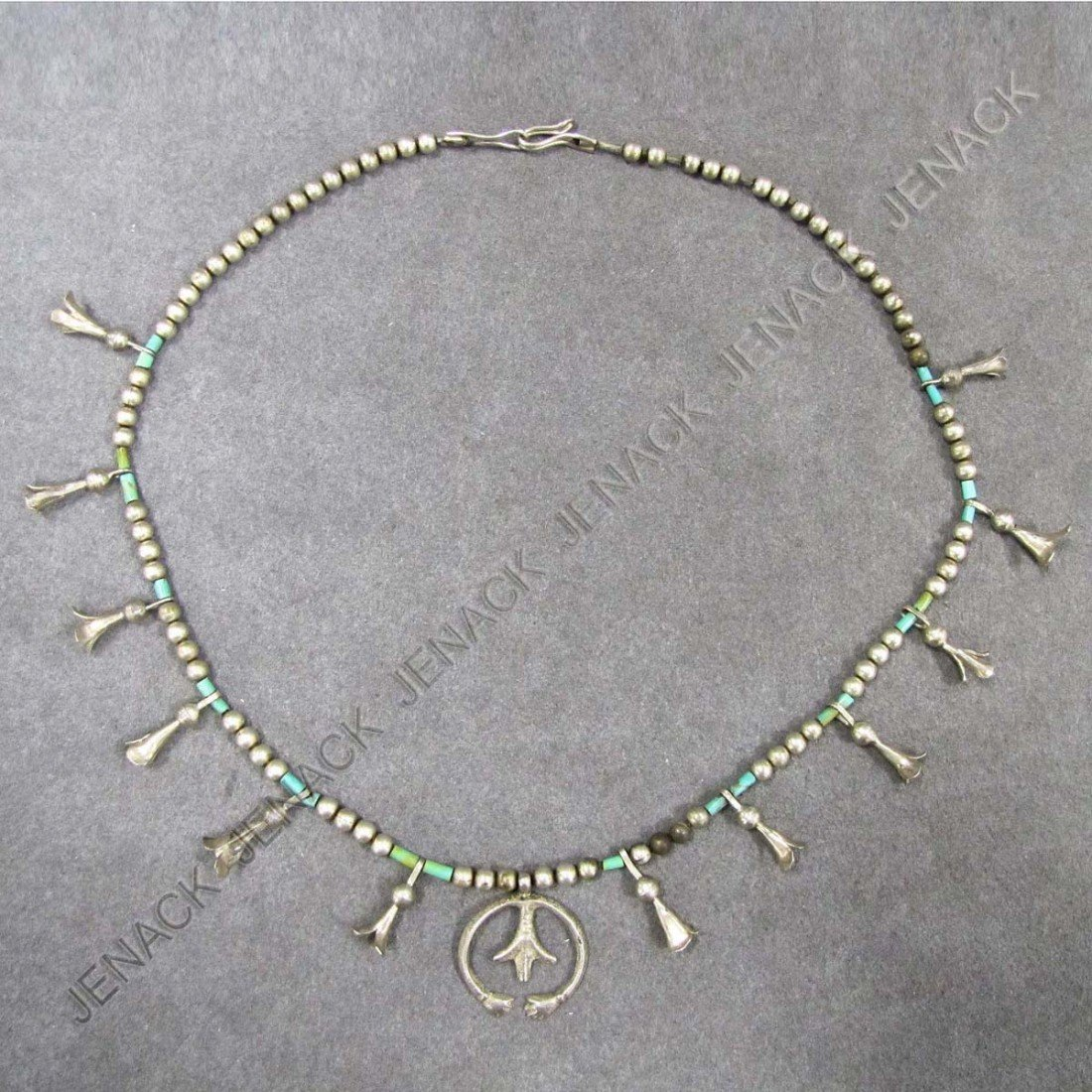1: SOUTHWEST AMERICAN INDIAN SILVER NECKLACE
