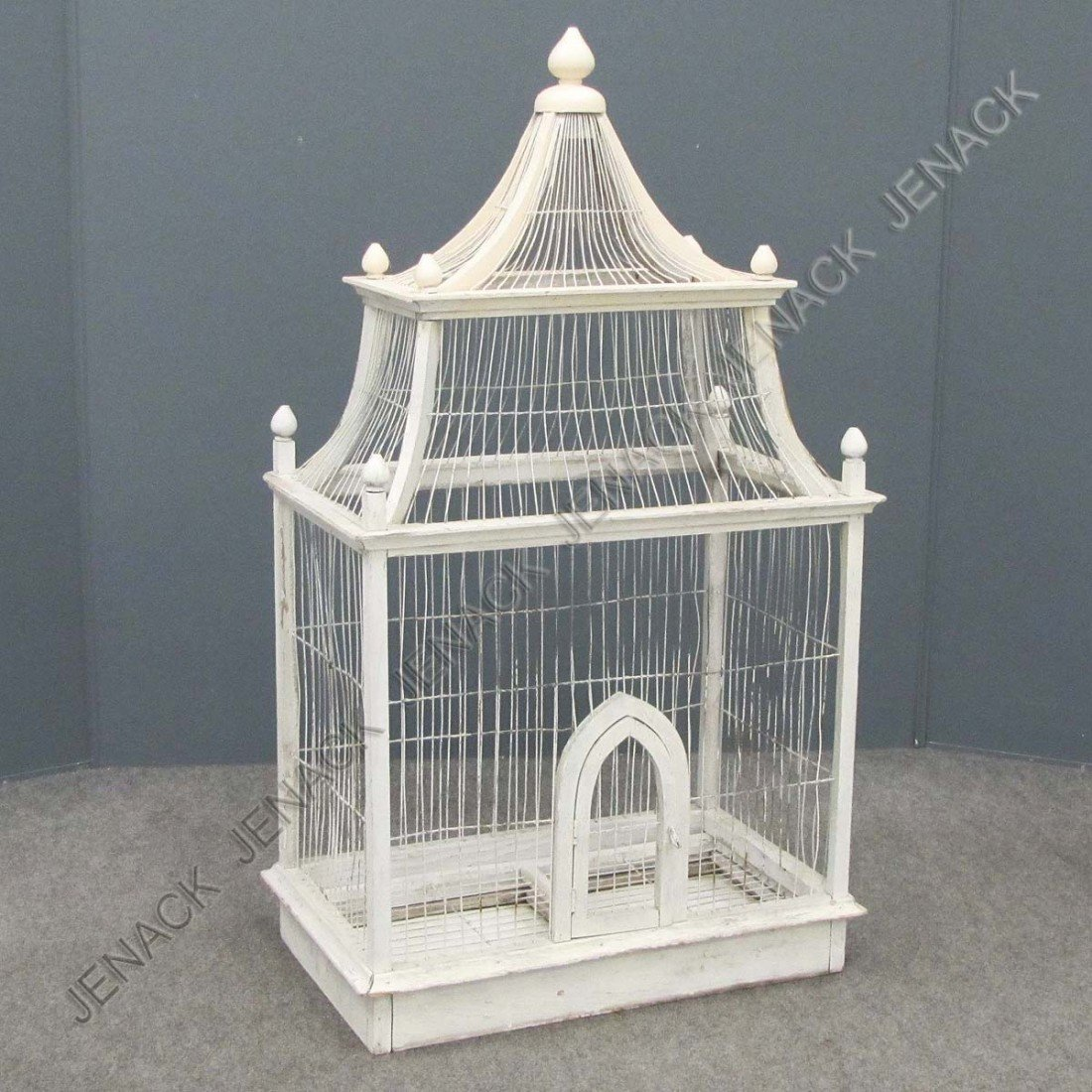 3: VINTAGE PAINTED BIRD CAGE